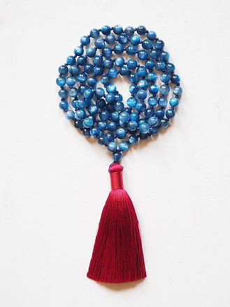 Mala necklace Collier Mala Brahma - Kyanite - Cyanite - Meditation