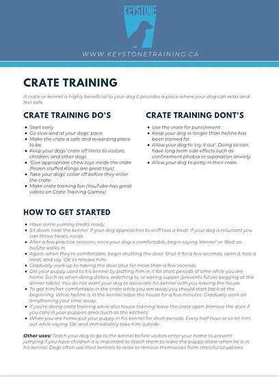 Keystone Crate Training Tips