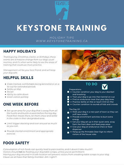 Keystone Holidays Tips