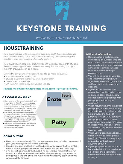 Keystone House Training Tips