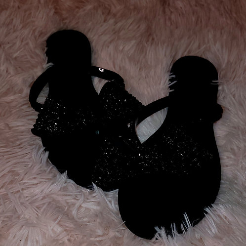 "Diamond Flip Flops in ""Black Tie"""