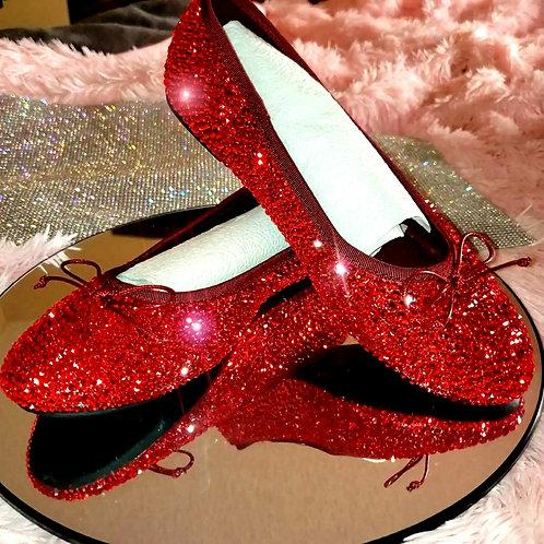 Cinderella Ballet Slippers Sizes 5-8