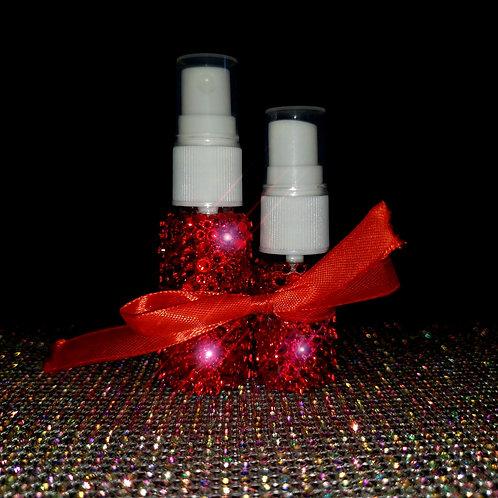 "Crystal 10ml/20ml Pump Spray 2 Bottle Set in ""Ruby Slipper"""