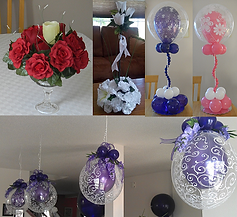 centerpieces, balloon decorations