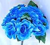 turquoise silk flower