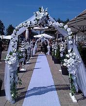 white silk flower chuch decoration