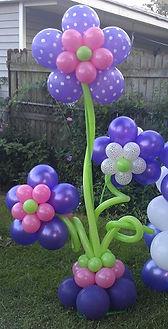 Purple balloon flower tree