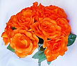 orange silk flower