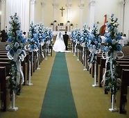 Flower decorations for church