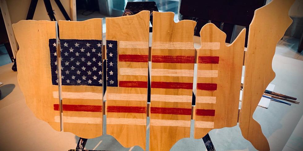 United States Wood Sign  4:30 pm