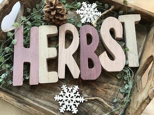 HERBST - Holzbuchstaben lila
