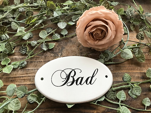 Schild:  Bad