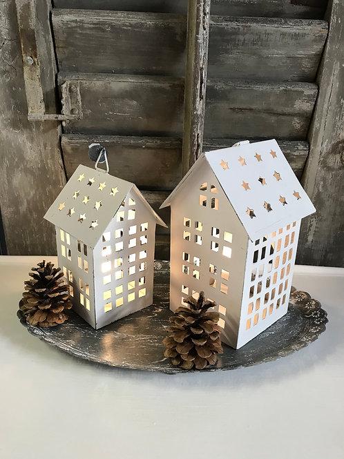 Laterne Haus mit Sternendach - 2 Grössen