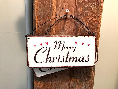 Schild:  Merry Christmas
