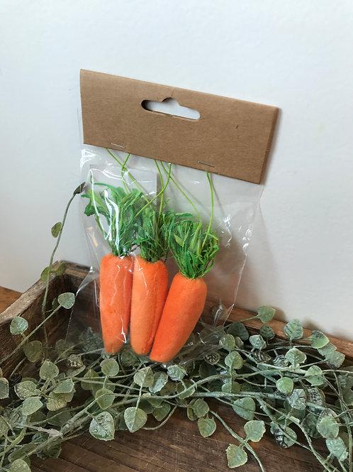 Deko Karotten mit Hänger - 3er Set