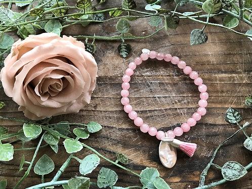 von Armbändli - Pink hell silber