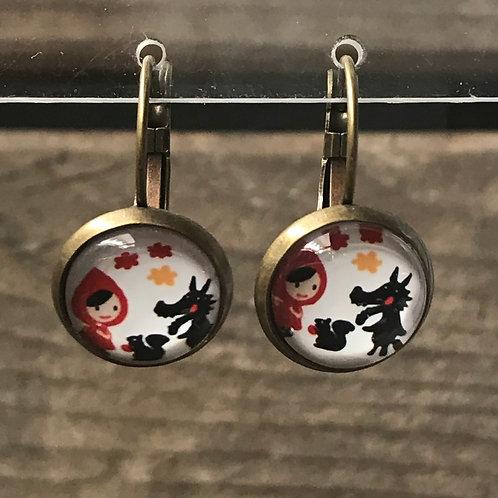 Ohrringe - Rotkäppli und der Wolf