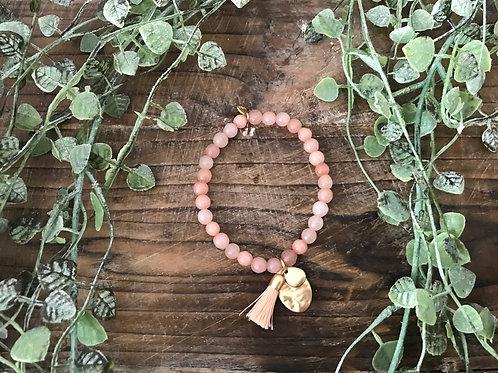 Armbändli - rosa mit Gold