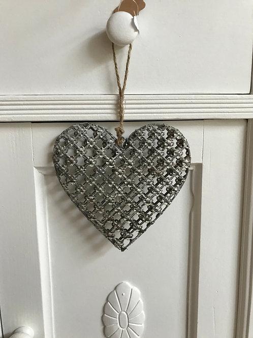 Herz grau klein oder gross