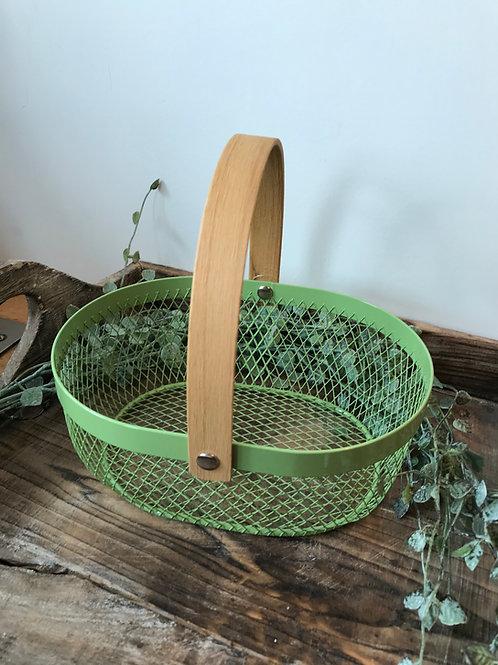 Metallkorb grün