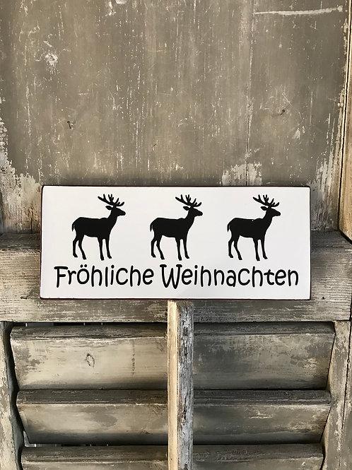 Schild: Frohe Weihnachten