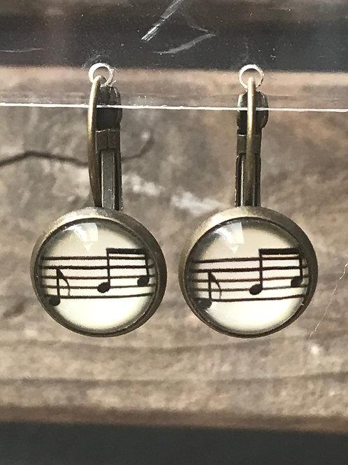 Ohrringe - Musiknoten