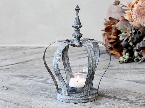 Krone mit Glas für Teelicht