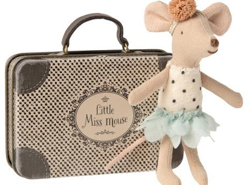 Kleine Maus mit Reisekoffer - Set