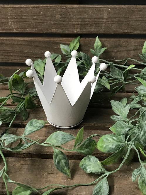 Nostalgische Krone weiss 10x10x9cm