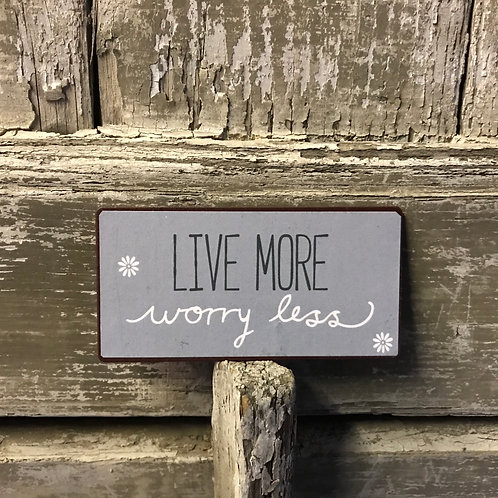 Magnet:  Live more, worry less
