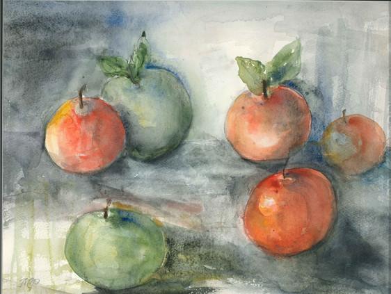 Stilleben with apples