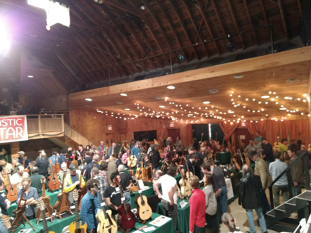 Vendor area at the Bearsville Theater in Woodstock.