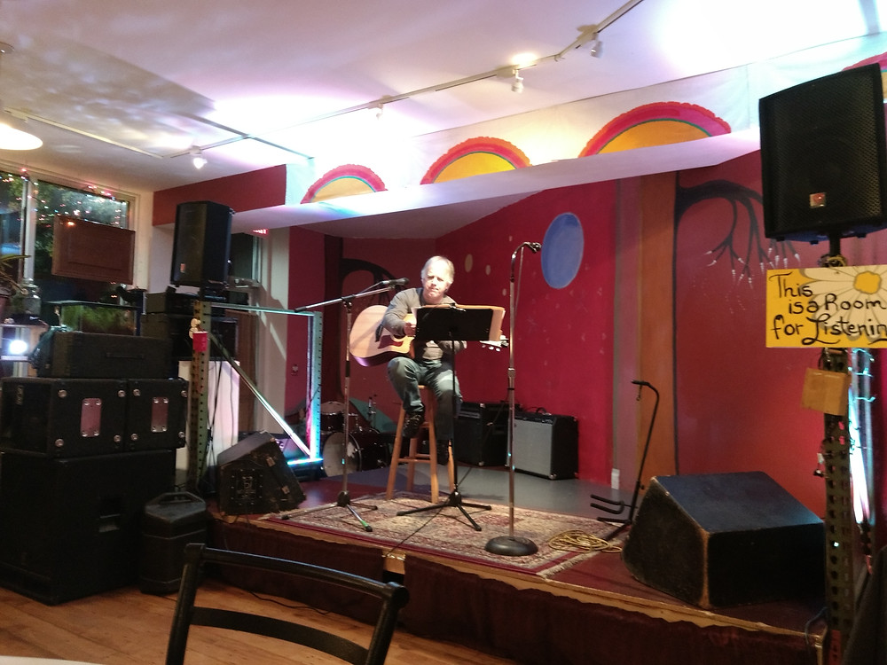 The Hearing Room on Chelmsford Ave in Lowell; great open mic!