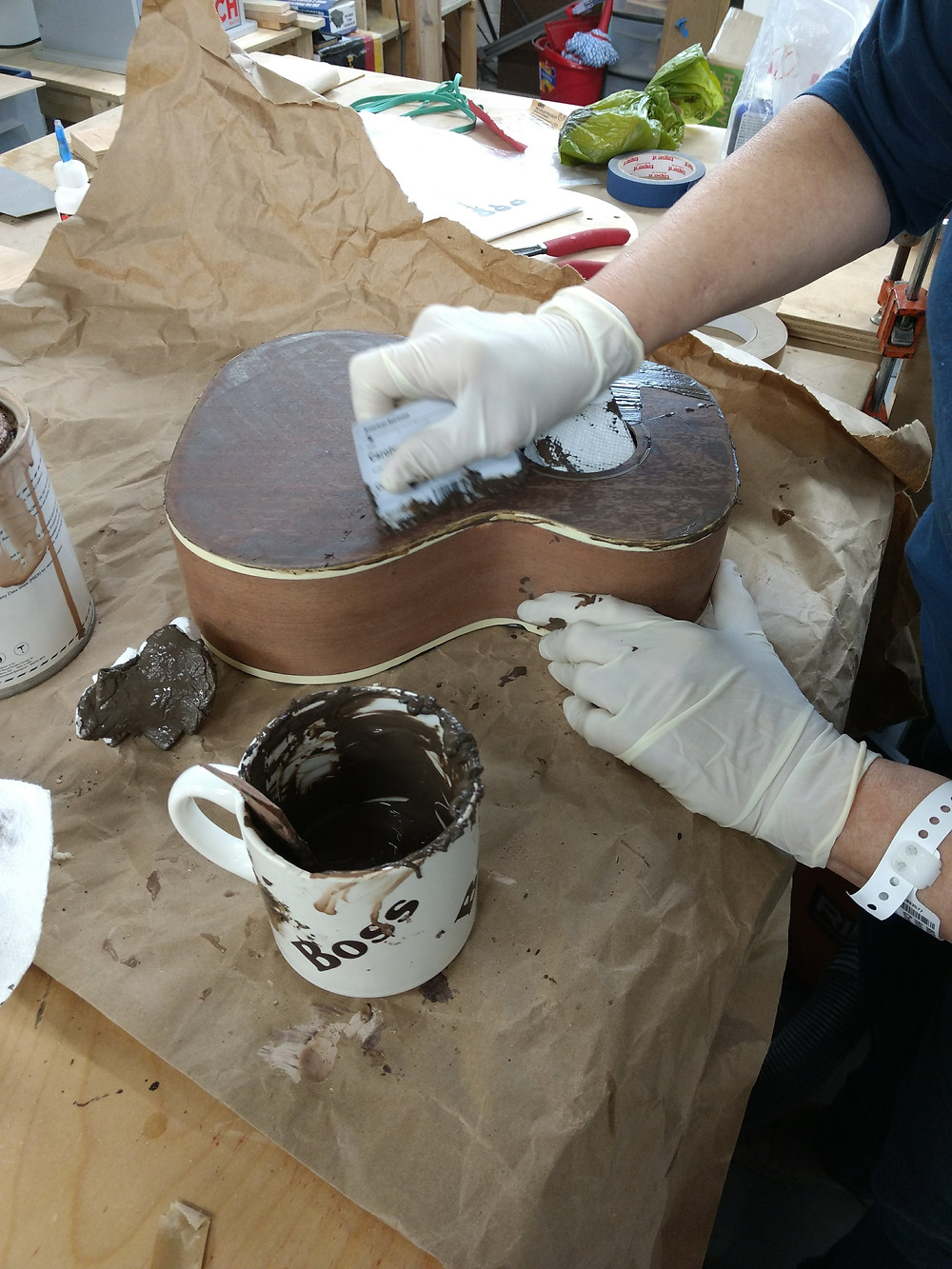 Grain filling the body of the uke.