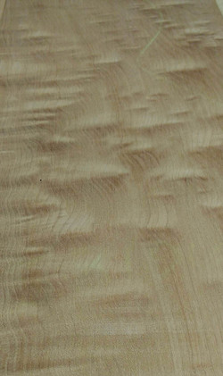 Close up of Quilted Maple