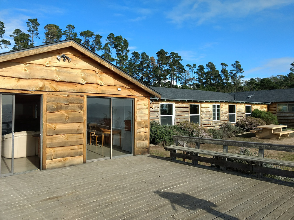 Main building at Camp Ocean Pines in Cambria, CA.