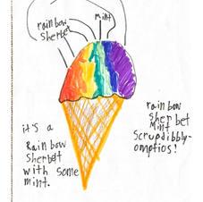Rainbow Sherbet Mint Scrumdibbly-omptios!