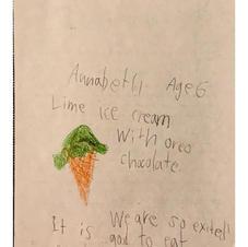 Lime ice cream With oreo chocolate