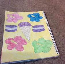 Hibiscus macaroon ice cream