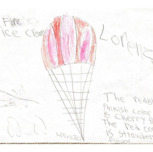 Fire ice cream