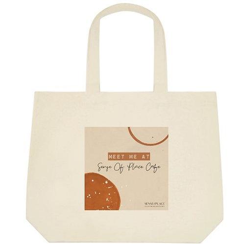 Sense of Place Cafe Tote Bag - Meet Me at SOP