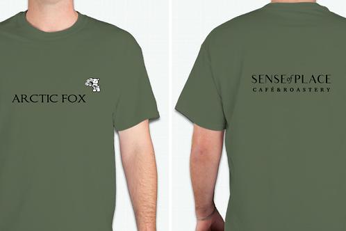 Sense of Place Arctic Fox T-Shirt - Military Green