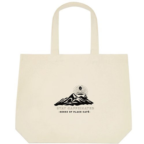 Sense of Place Cafe Tote Bag - Stay Caffeinated