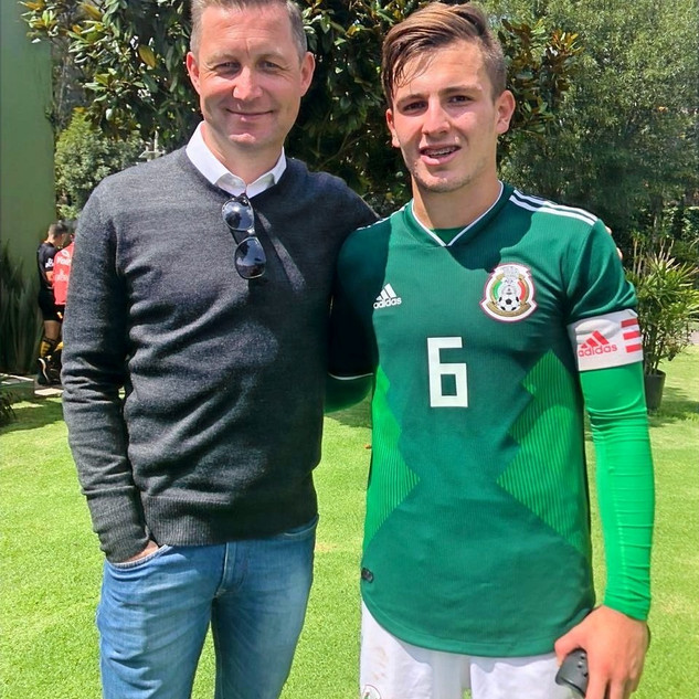 Pictured with Eugenio Pizzuto Mexico U17 National Captain