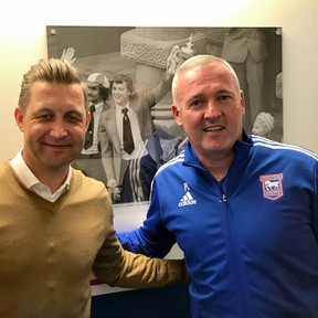 Ibrom with Paul Lambert from Ipswich Town FC