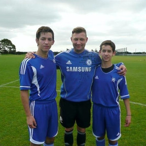 Ibrom with two recruits from Mexico in New Zealand