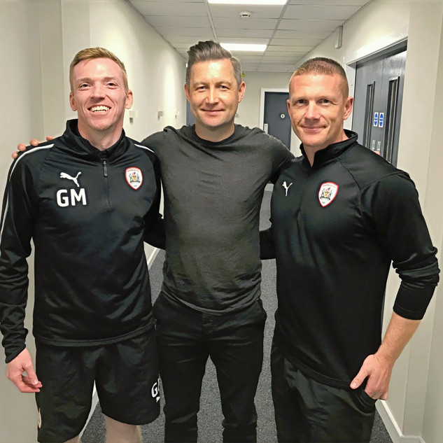 Ibrom with Barnsley FC Academy staff