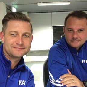 Ibrom with Giovani Fernandes FIFA Senior