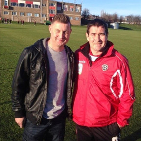 Ibrom with Nigel Clough at Sheffield United FC