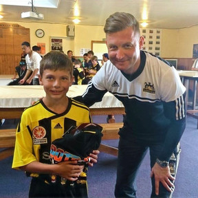 Ibrom pictured with a young Nix in New Zealand